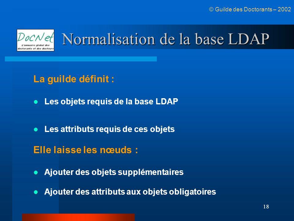 Normalisation de la base LDAP