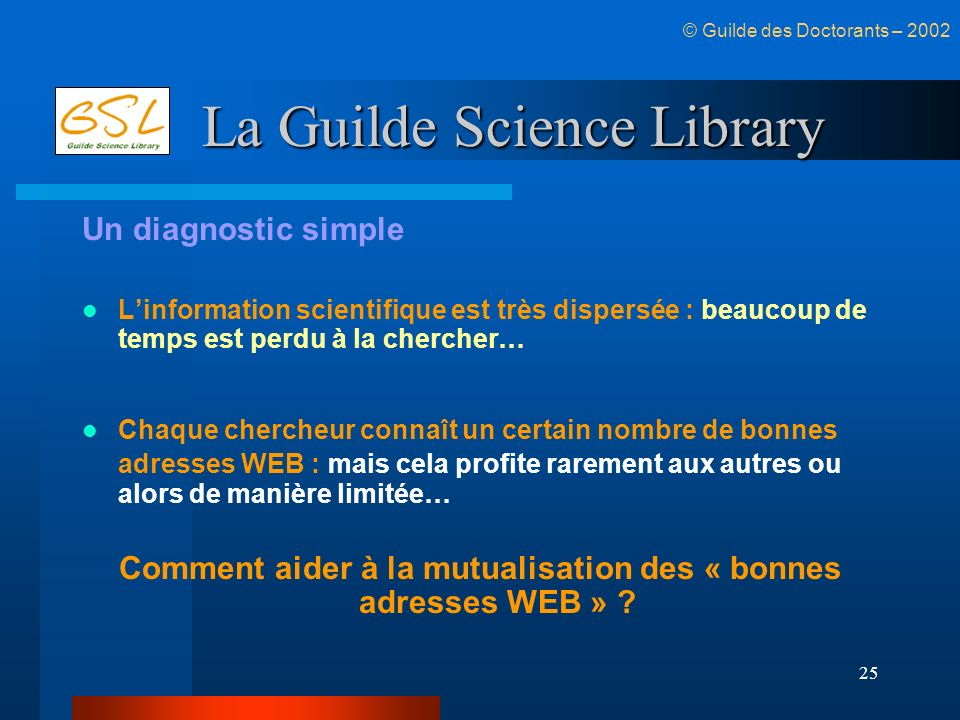 La Guilde Science Library