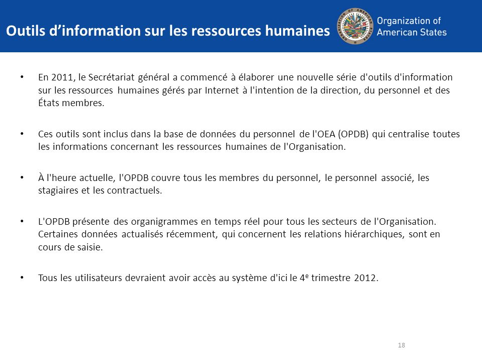 Outils d'information sur les ressources humaines