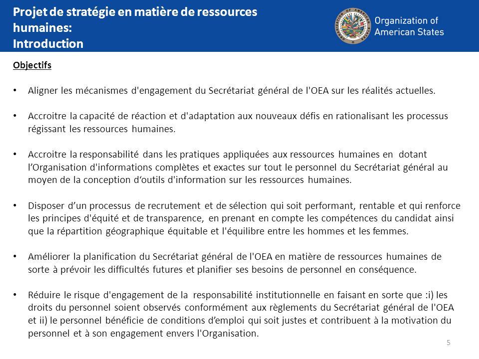 Projet de stratégie en matière de ressources humaines: Introduction