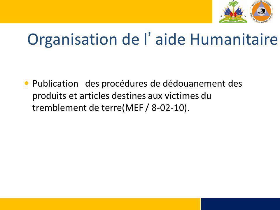 Organisation de l' aide Humanitaire