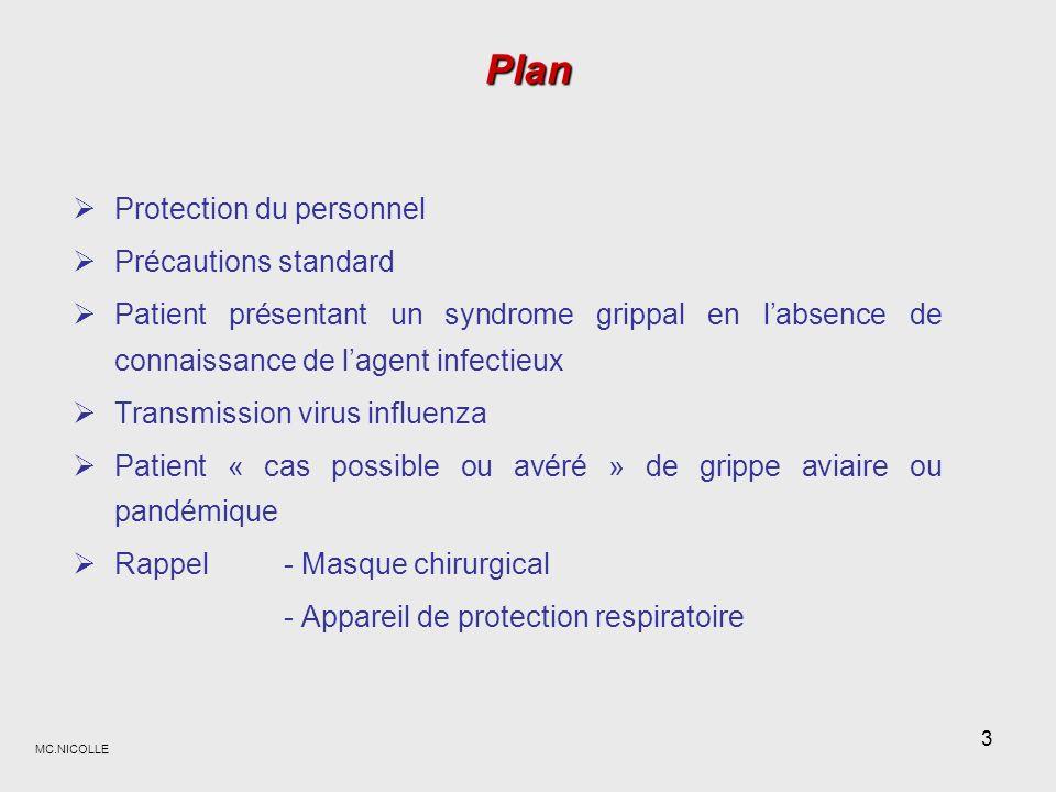 Plan Protection du personnel Précautions standard