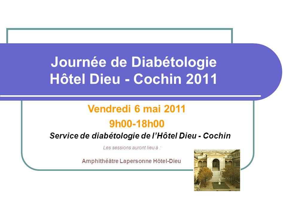 Journée de Diabétologie Hôtel Dieu - Cochin 2011
