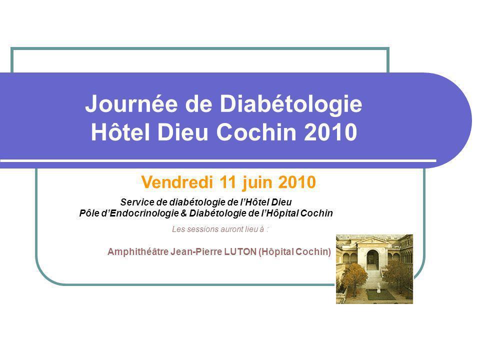 Journée de Diabétologie Hôtel Dieu Cochin 2010