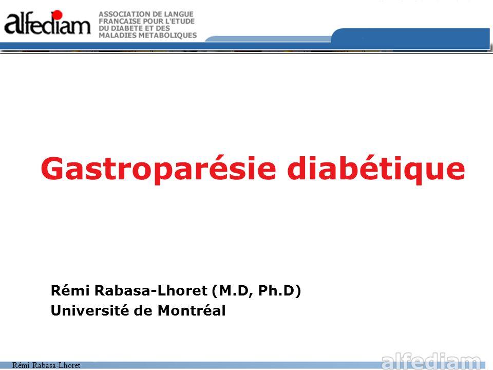 Gastroparésie diabétique