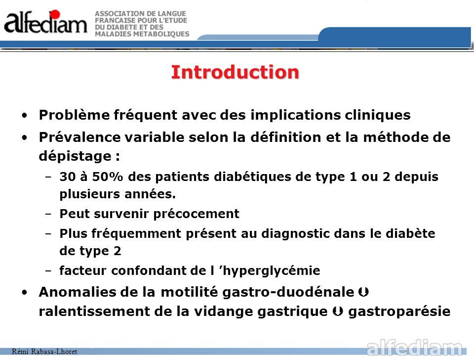 Introduction Problème fréquent avec des implications cliniques
