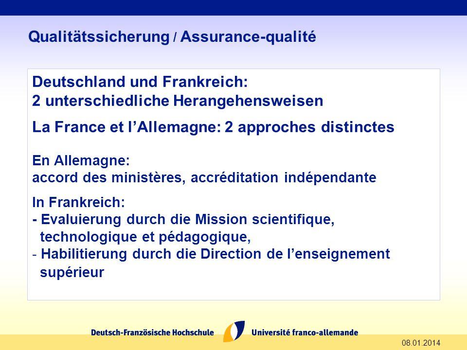 Qualitätssicherung / Assurance-qualité