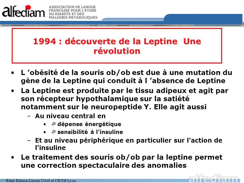 1994 : découverte de la Leptine Une révolution