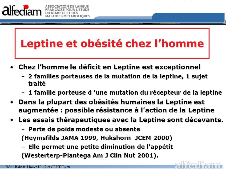 Leptine et obésité chez l'homme