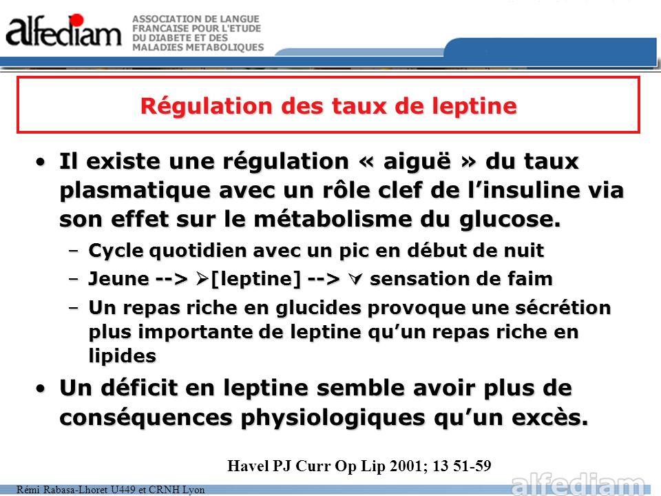 Régulation des taux de leptine
