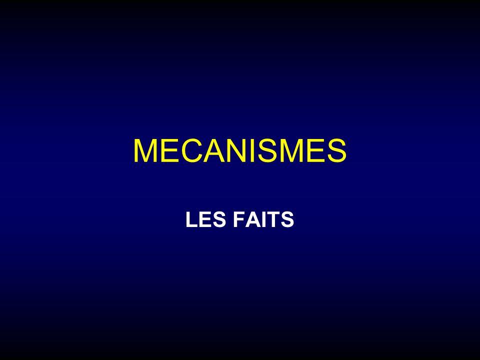 MECANISMES LES FAITS