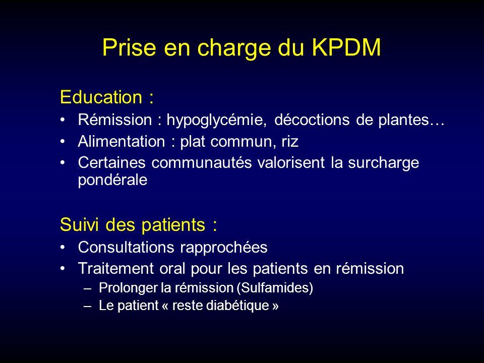 Prise en charge du KPDM Education : Suivi des patients :
