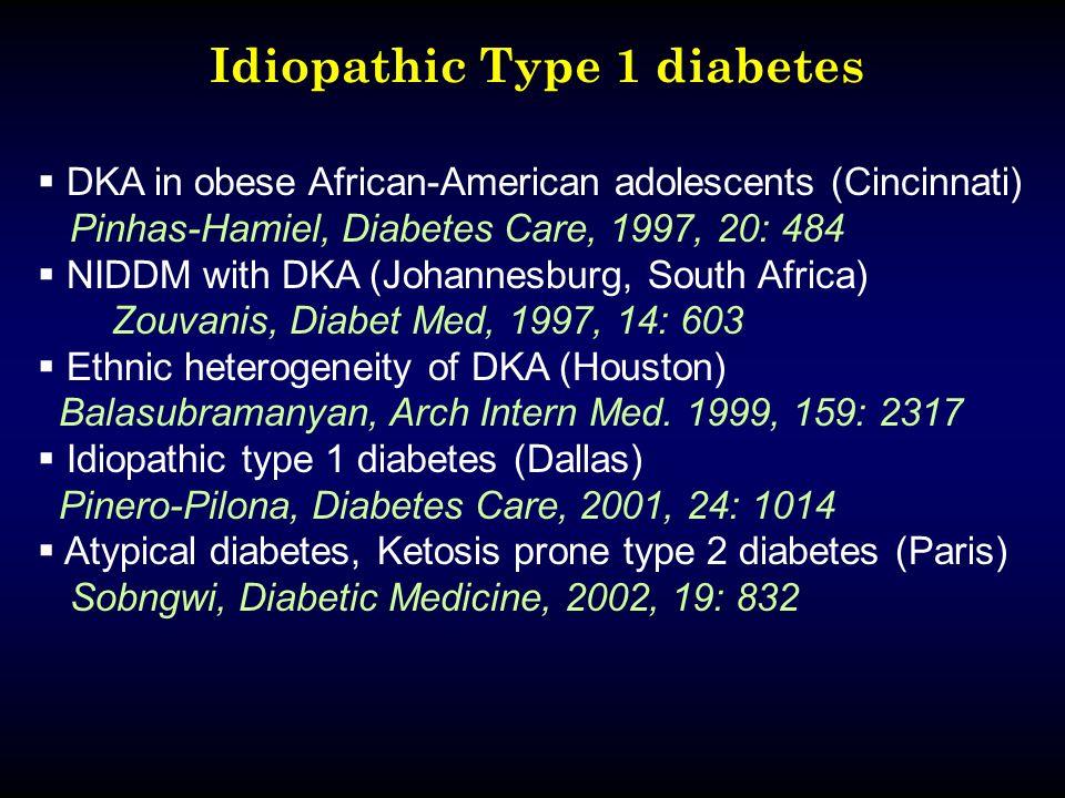 Idiopathic Type 1 diabetes