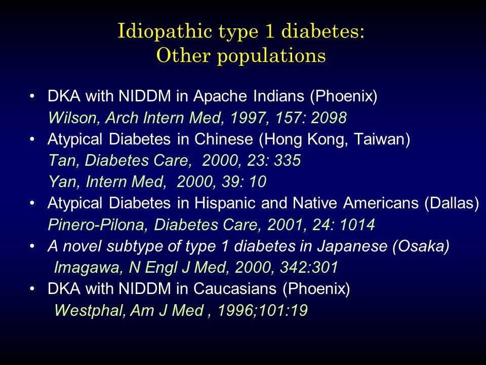 Idiopathic type 1 diabetes: