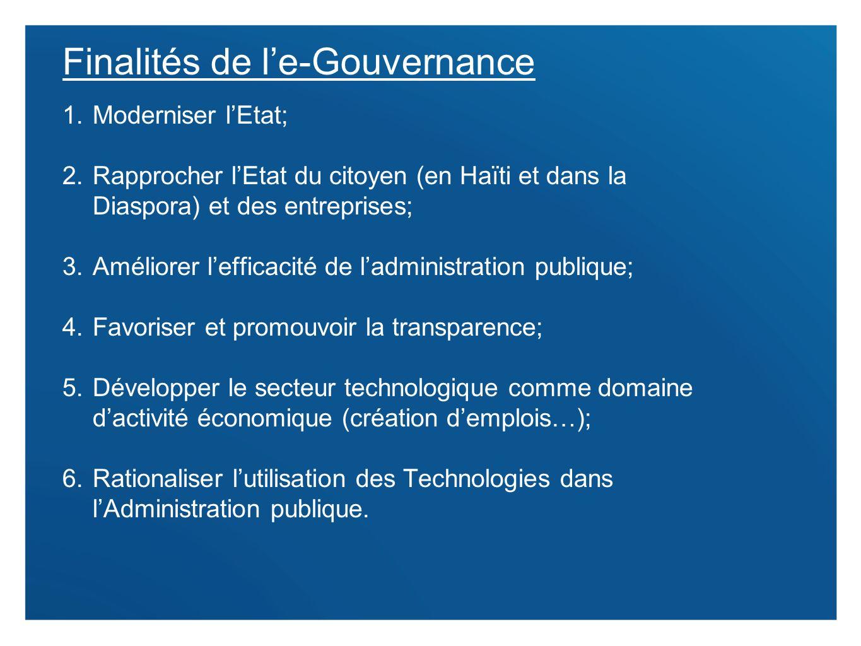 Finalités de l'e-Gouvernance