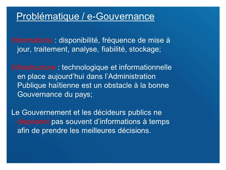 Problématique / e-Gouvernance