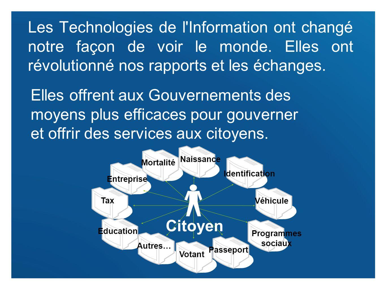 Les Technologies de l Information ont changé notre façon de voir le monde. Elles ont révolutionné nos rapports et les échanges.