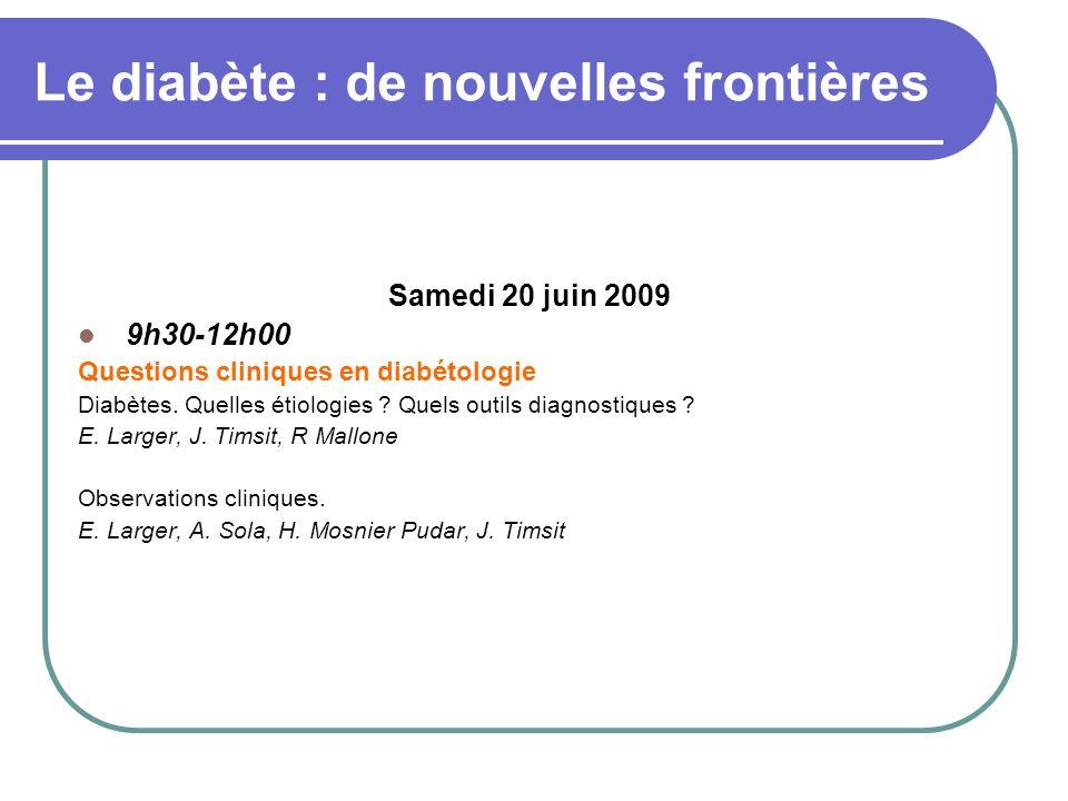 Le diabète : de nouvelles frontières