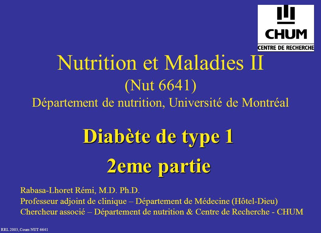 Diabète de type 1 2eme partie