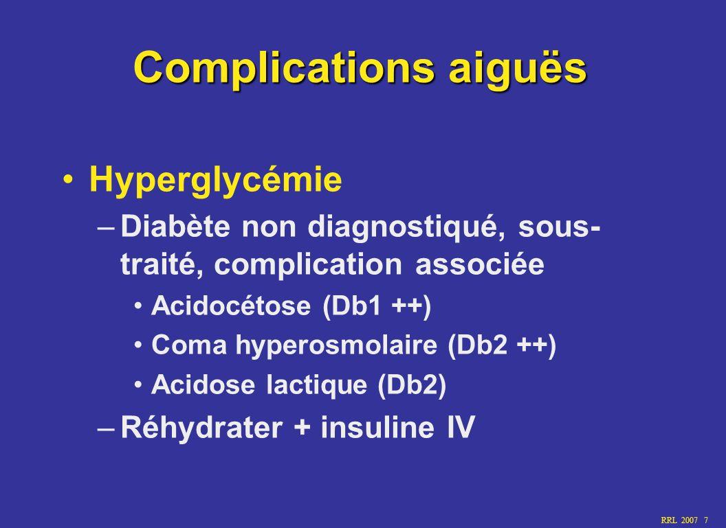Complications aiguës Hyperglycémie