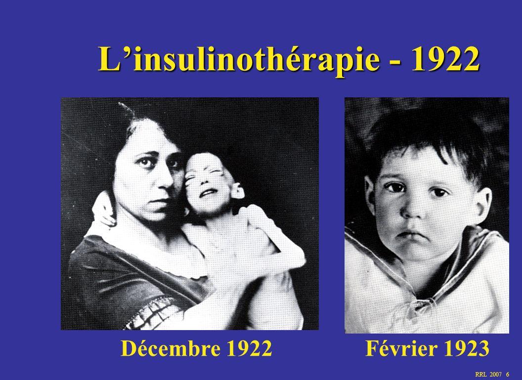 L'insulinothérapie - 1922 Décembre 1922 Février 1923