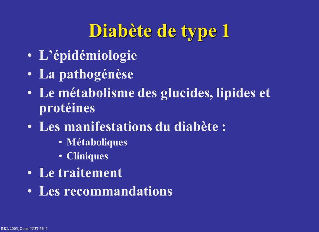 Diabète de type 1 L'épidémiologie La pathogénèse