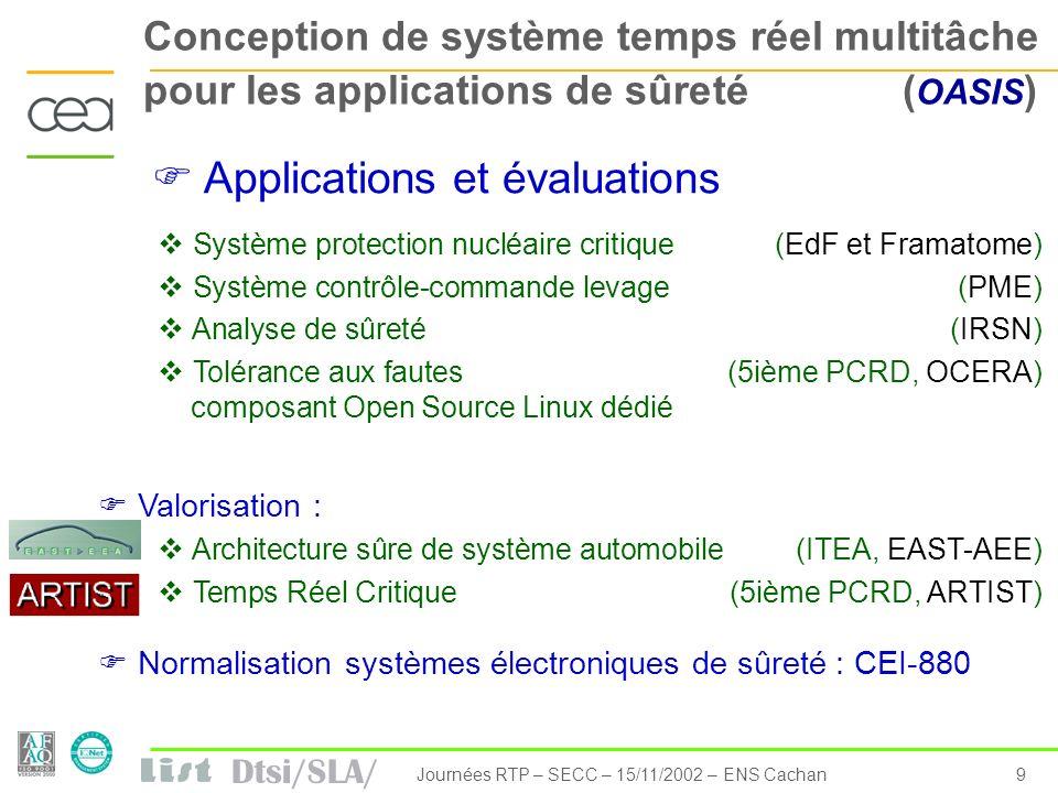 Journées RTP – SECC – 15/11/2002 – ENS Cachan
