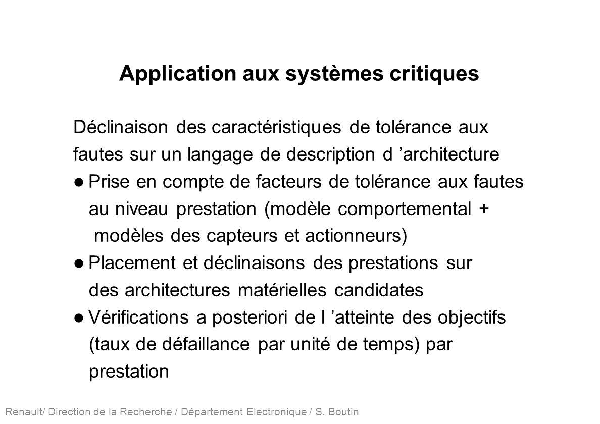 Application aux systèmes critiques