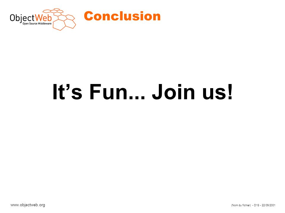 Conclusion It's Fun... Join us!