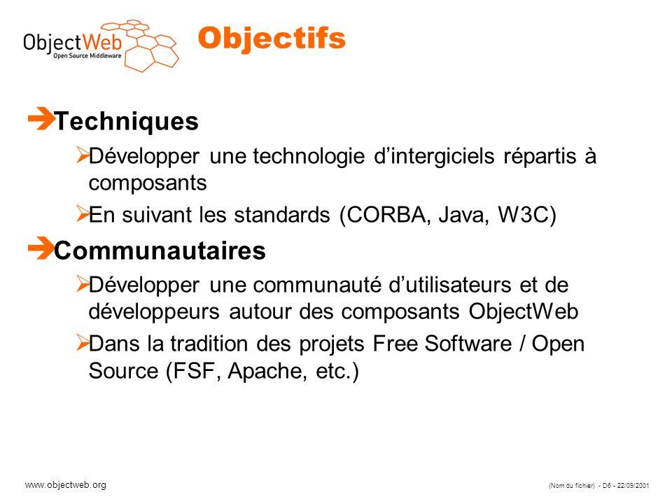 Objectifs Techniques Communautaires