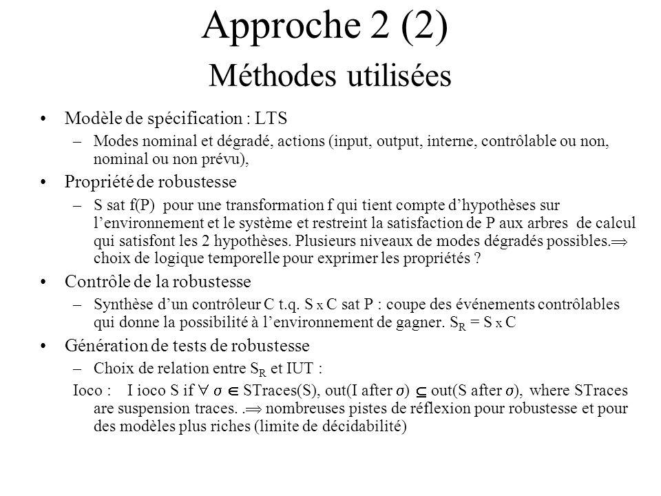 Approche 2 (2) Méthodes utilisées
