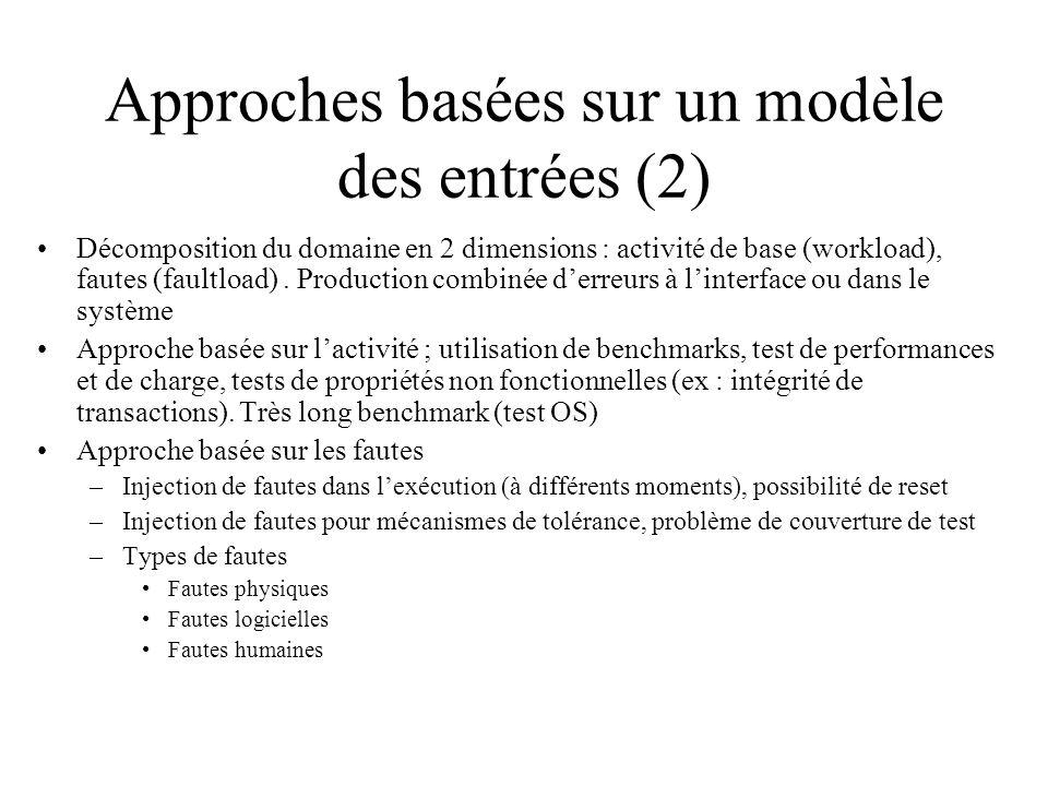 Approches basées sur un modèle des entrées (2)