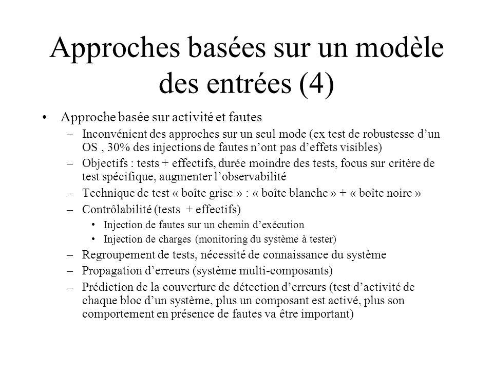 Approches basées sur un modèle des entrées (4)