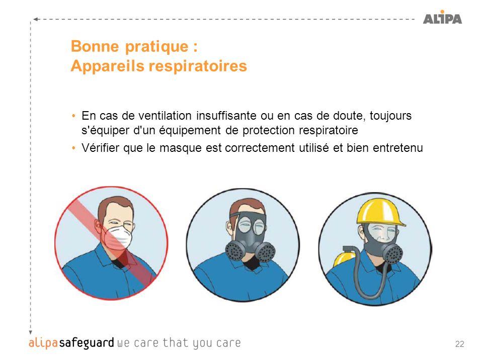 Bonne pratique : Appareils respiratoires