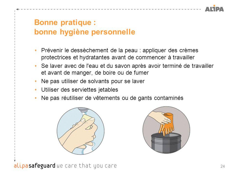 Bonne pratique : bonne hygiène personnelle