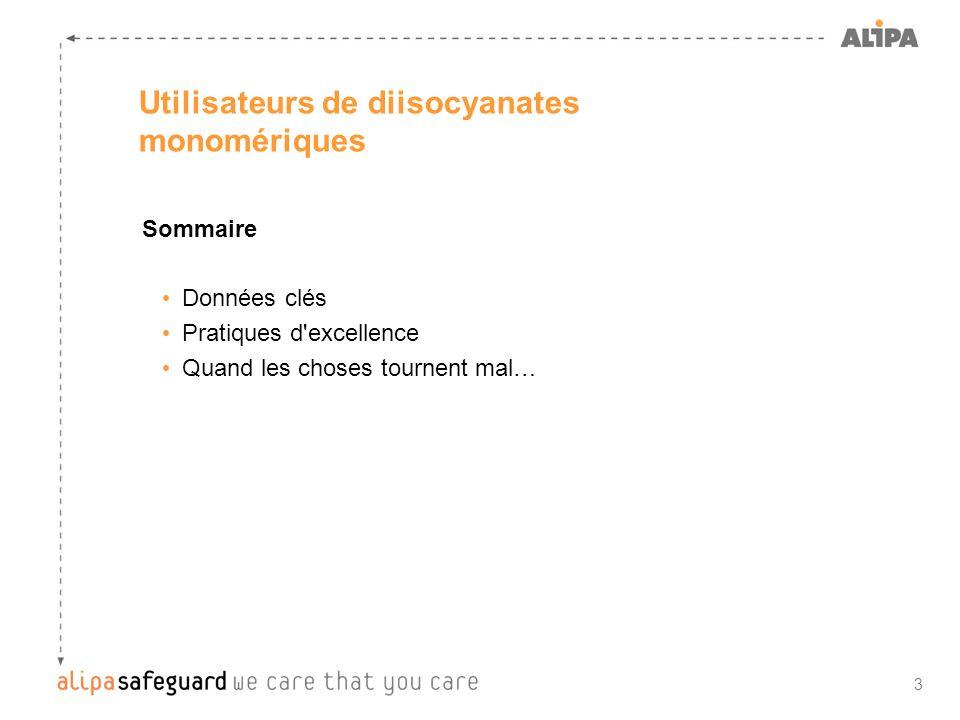 Utilisateurs de diisocyanates monomériques