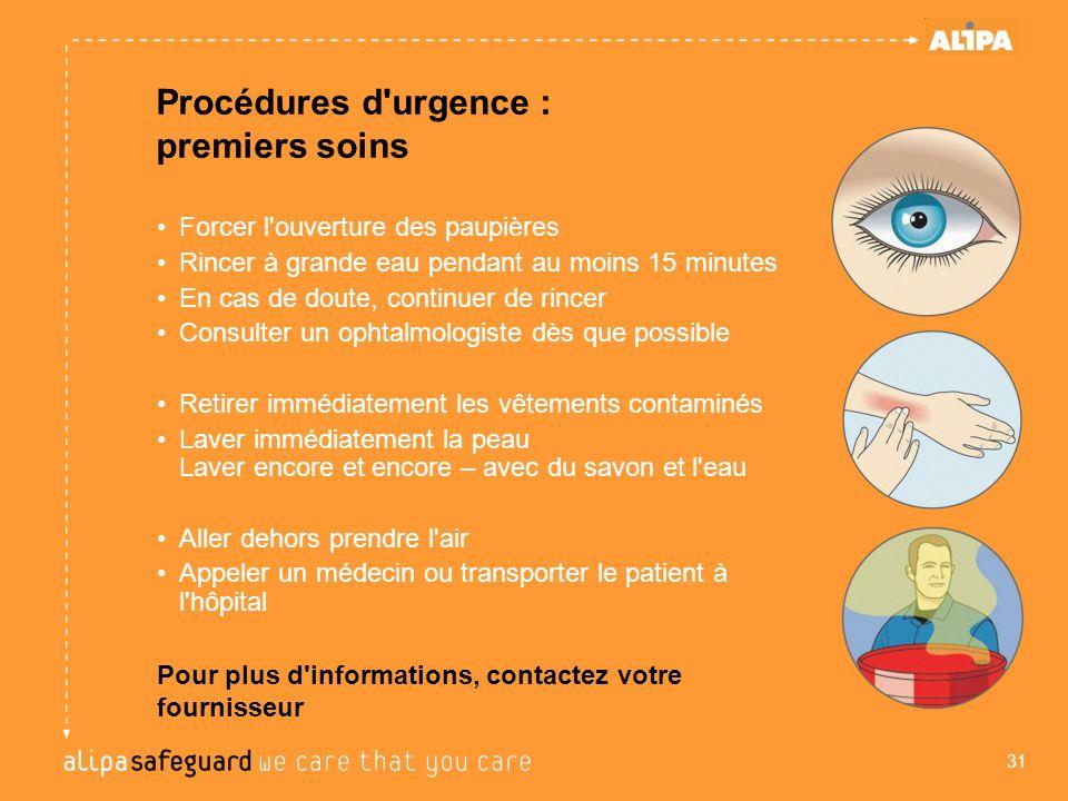 Procédures d urgence : premiers soins