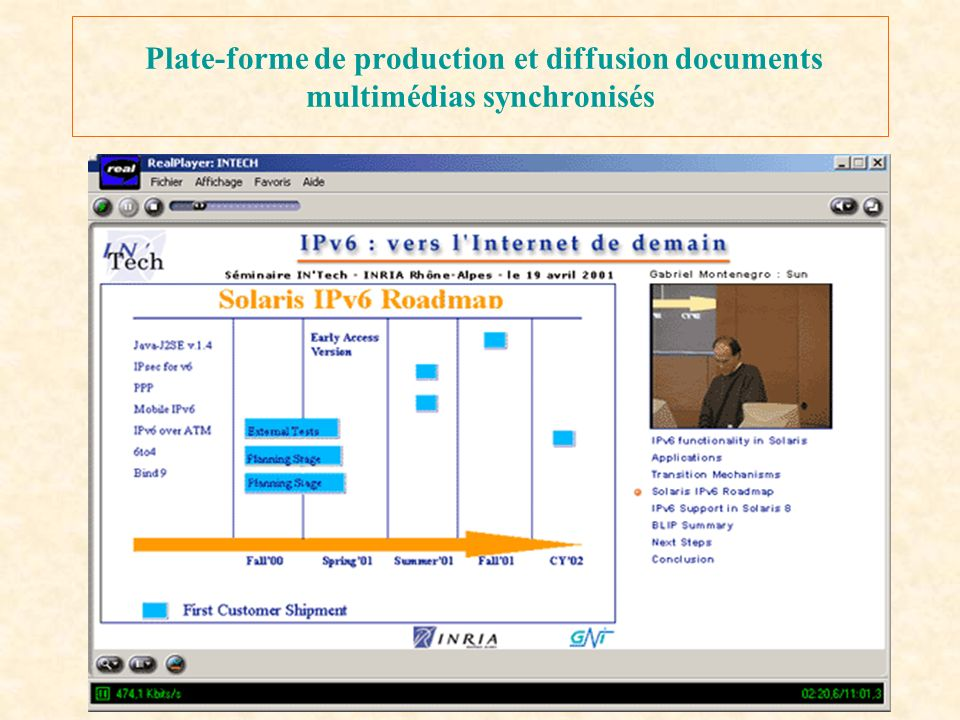 Plate-forme de production et diffusion documents multimédias synchronisés