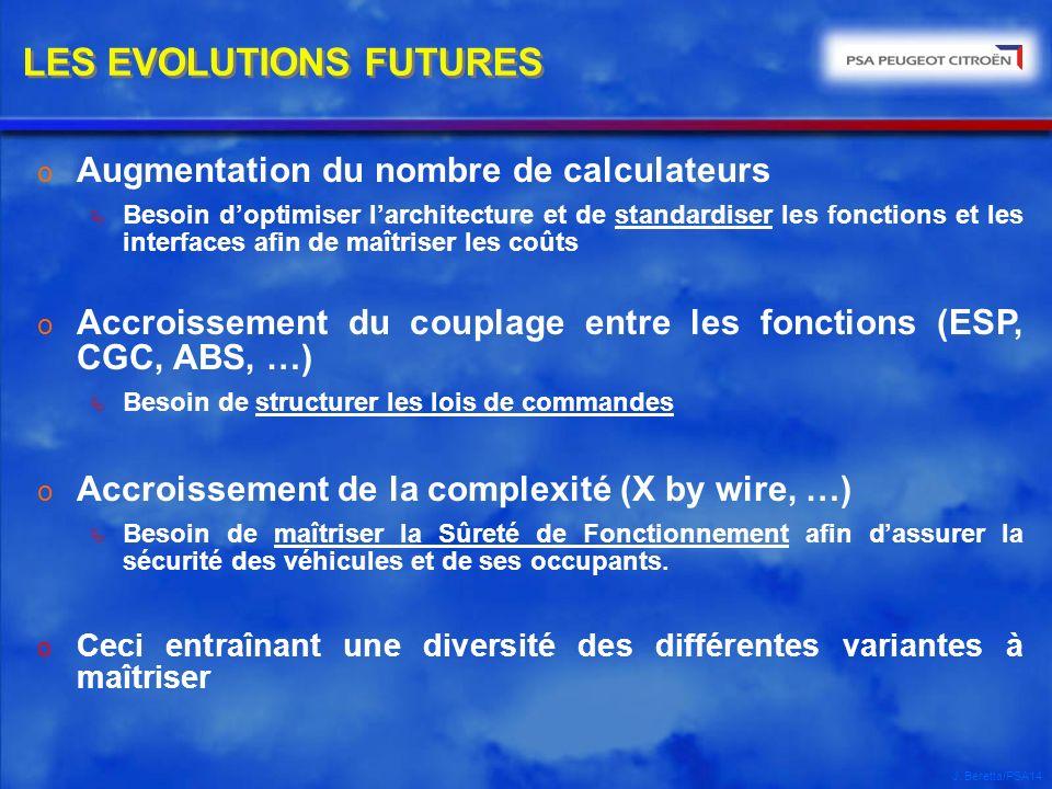 LES EVOLUTIONS FUTURES