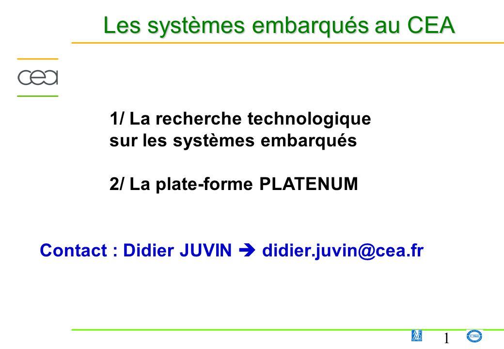 Les systèmes embarqués au CEA