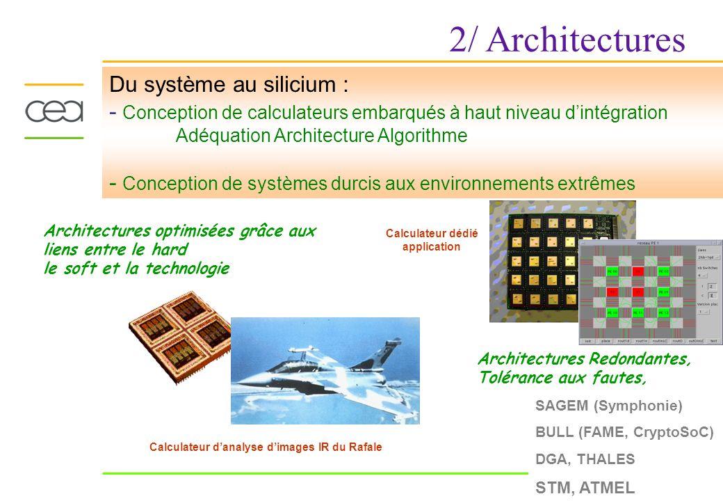 2/ Architectures Du système au silicium :