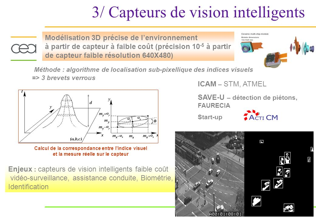 3/ Capteurs de vision intelligents
