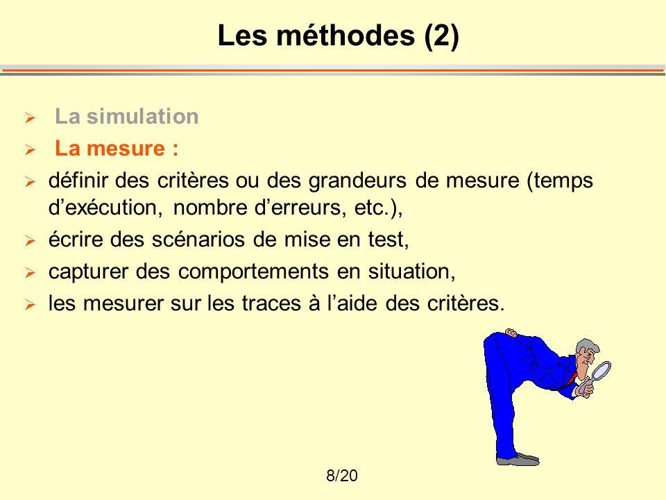 Les méthodes (2) La simulation La mesure :