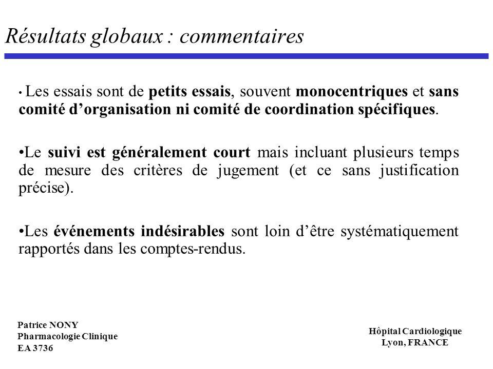 Résultats globaux : commentaires