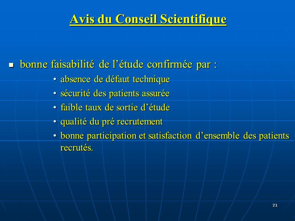 Avis du Conseil Scientifique