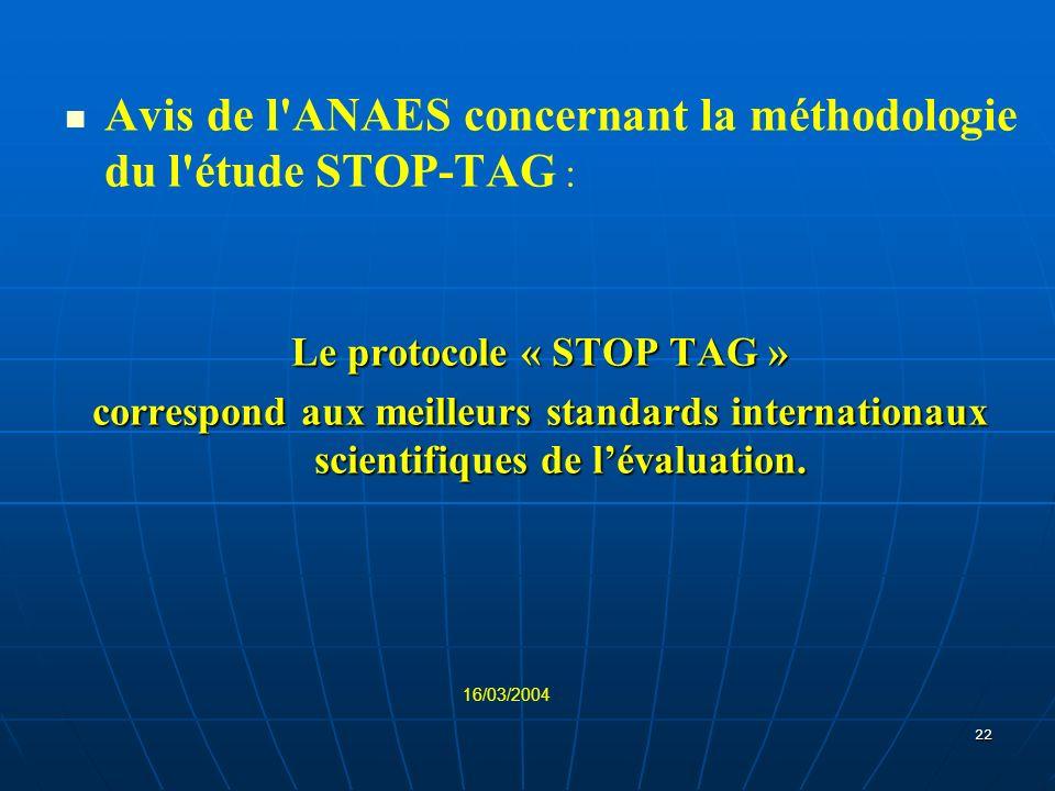 Le protocole « STOP TAG »