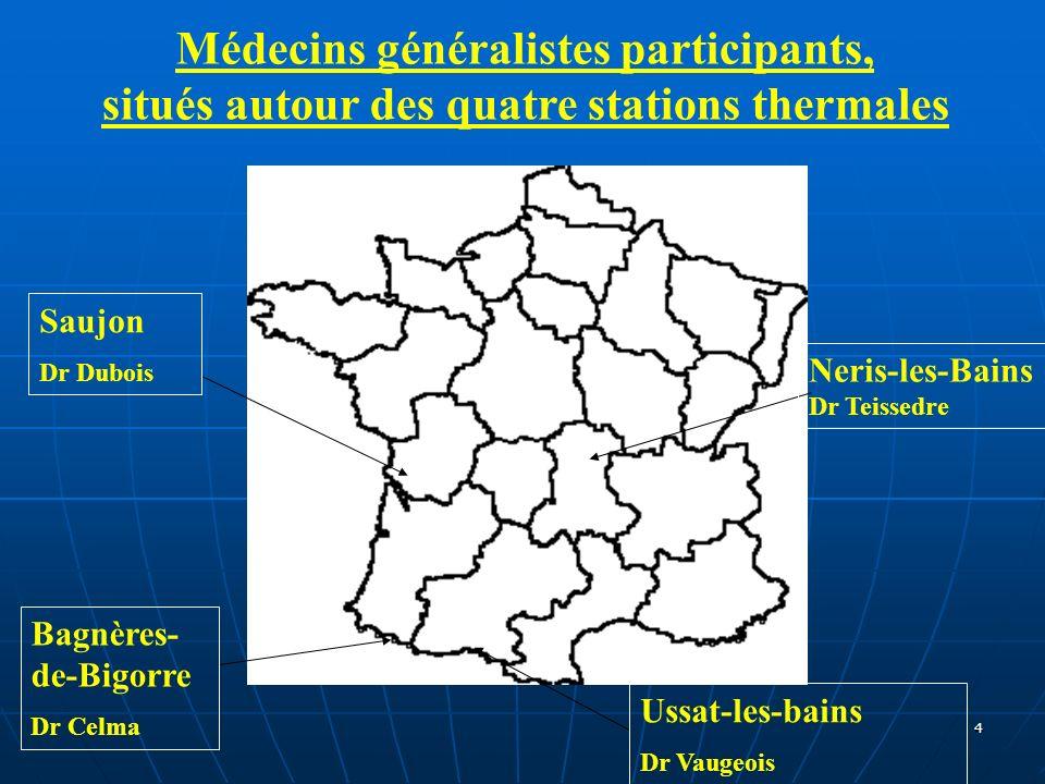 Médecins généralistes participants,