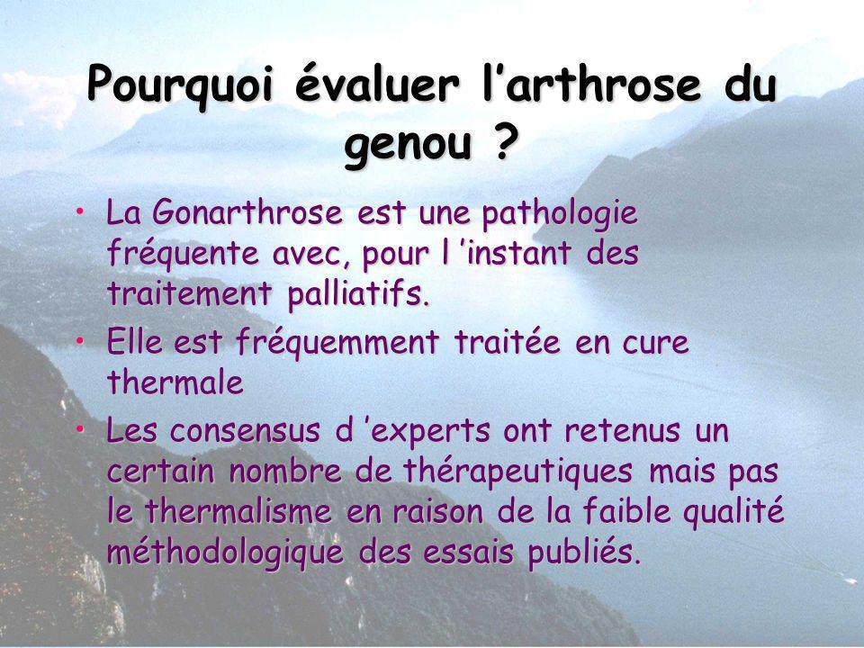 Pourquoi évaluer l'arthrose du genou