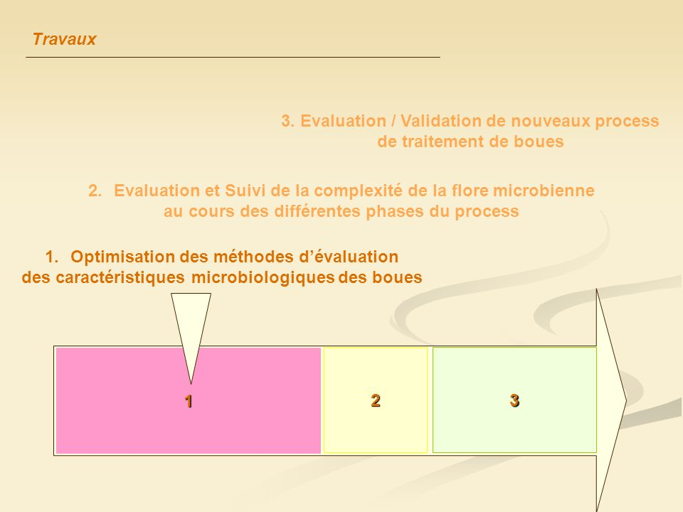3. Evaluation / Validation de nouveaux process de traitement de boues