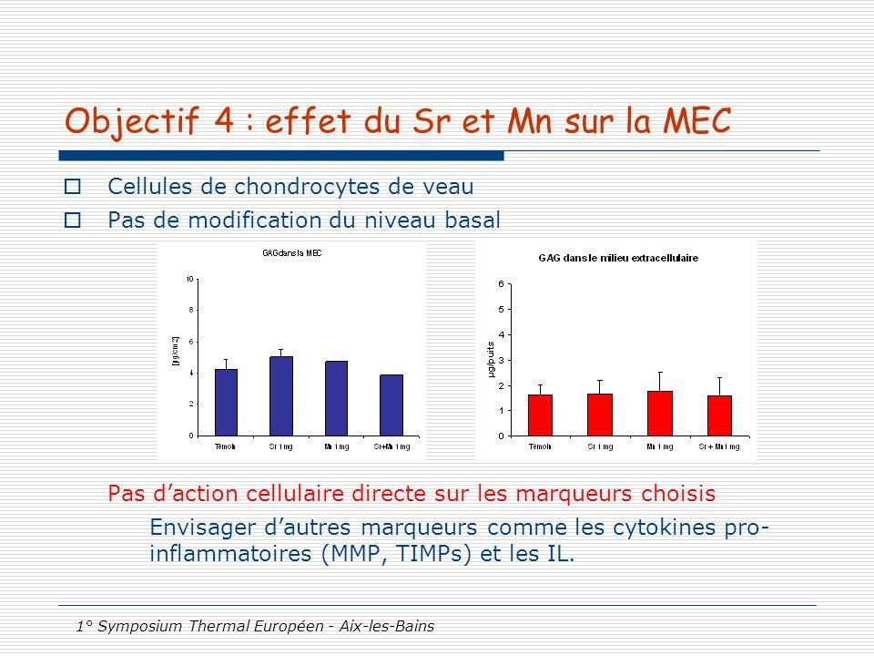 Objectif 4 : effet du Sr et Mn sur la MEC